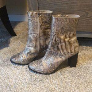 Mattise Florian Leather Heeled Boot-Metallic Snake